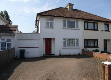 Thumbnail 3 bed semi-detached house to rent in Ellesmere Avenue, Mill Hill, London