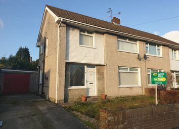 Thumbnail 3 bed semi-detached house for sale in Hall Drive, North Cornelly, Bridgend