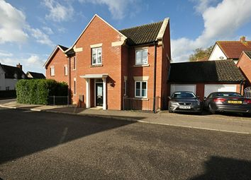 Thumbnail 4 bed detached house for sale in Oakfield Road, Long Stratton, Norwich