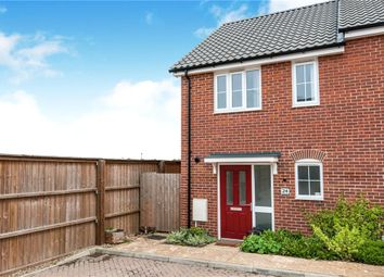 Thumbnail 2 bed semi-detached house for sale in Brooke Way, Stowmarket, Suffolk