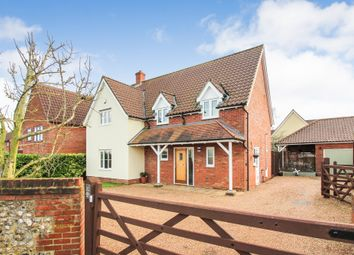 Thumbnail 4 bed detached house for sale in The Turnpike, Bunwell, Norwich
