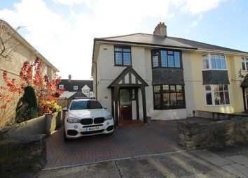 Thumbnail 4 bed semi-detached house for sale in Vapron Road, Mannamead, Plymouth