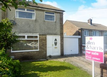 Thumbnail 3 bed semi-detached house for sale in Crawford Close, Beddau, Pontypridd
