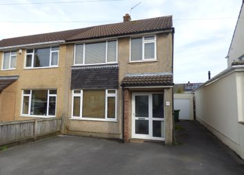 Thumbnail 3 bedroom semi-detached house to rent in Bradley Avenue, Winterbourne, Bristol