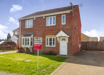 Thumbnail 2 bed semi-detached house for sale in St Andrews Close, Outwell, Wisbech
