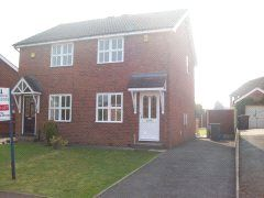 Thumbnail 2 bed semi-detached house to rent in Blackthorne Close, Hasland, Chesterfield