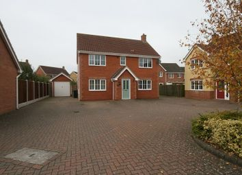 Thumbnail 4 bed detached house for sale in Balmoral Close, Attleborough