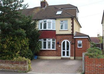 Thumbnail 4 bed semi-detached house for sale in Hawthorne Avenue, Rainham, Gillingham, Kent