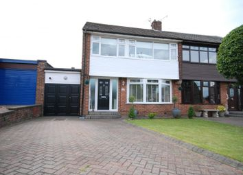 Thumbnail 3 bed semi-detached house for sale in Ewesley Gardens, Wideopen, Newcastle Upon Tyne
