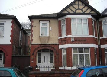 Thumbnail 5 bedroom shared accommodation to rent in Milverton Road, Manchester, Greater Manchester