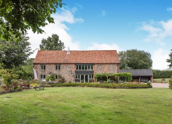 Thumbnail 6 bed barn conversion for sale in Church Road, Lower Bodham, Norfolk
