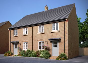 "Thumbnail 3 bed semi-detached house for sale in ""The Melford"" at Bedford Road, Great Barford, Bedford"