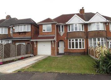 Thumbnail 4 bed semi-detached house for sale in Elmfield Road, Castle Bromwich, Birmingham, West Midlands