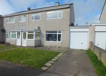 Thumbnail 3 bed semi-detached house for sale in Creggans Avenue, Peel, Isle Of Man