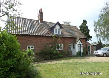 Thumbnail 3 bedroom detached house to rent in Church Road, Hedenham, Suffolk