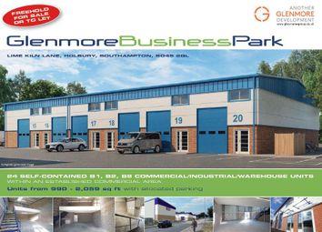 Thumbnail Warehouse for sale in Glenmore Business Park, Lime Kiln Lane, Holbury, Southampton, Hampshire
