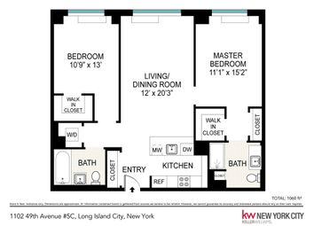 Thumbnail 2 bed property for sale in 11-02 49th Avenue, New York, New York State, United States Of America
