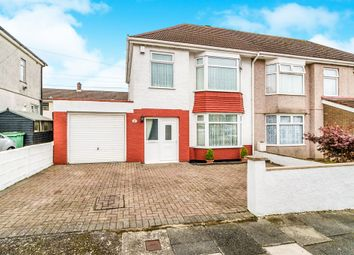 Thumbnail 3 bed semi-detached house for sale in Hirmandale Road, West Park, Plymouth