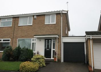 Thumbnail 3 bed semi-detached house for sale in Glendale Close, Chapel Park, Newcastle Upon Tyne