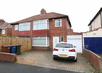 Thumbnail 3 bed semi-detached house for sale in Western Avenue, West Denton, Newcastle Upon Tyne