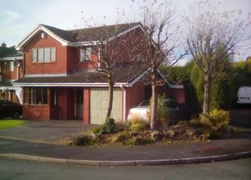 Thumbnail 4 bedroom detached house for sale in Gwendoline Way, Walsall Wood, Walsall