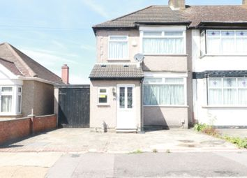 Thumbnail 3 bed end terrace house to rent in Lower Mardyke Avenue, Rainham, Essex
