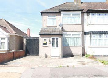 Thumbnail 3 bedroom end terrace house to rent in Lower Mardyke Avenue, Rainham, Essex