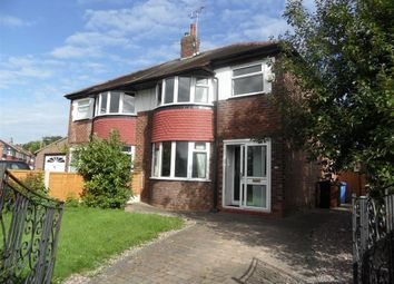 Thumbnail 3 bed semi-detached house to rent in Alcester Avenue, Cheadle Heath, Stockport