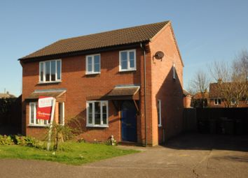 Thumbnail 2 bedroom semi-detached house to rent in Sawmill Close, Wymondham, Norfolk