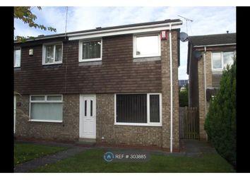 Thumbnail 3 bed semi-detached house to rent in Oulton Close, Cramlington