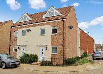 Thumbnail 3 bedroom semi-detached house for sale in Highland Drive, Broughton, Milton Keynes, Buckinghamshire