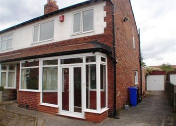 Thumbnail 3 bed property to rent in Wyverne Road, Chorlton, Manchester