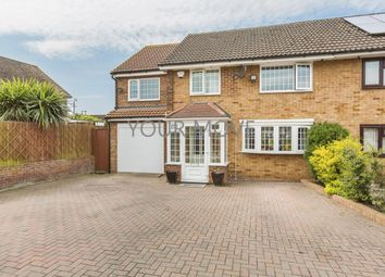 Thumbnail 4 bed semi-detached house for sale in Sakins Croft, Harlow