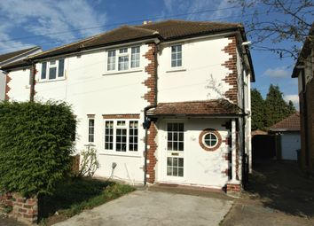 Thumbnail 3 bedroom semi-detached house to rent in Pembroke Avenue, Hersham, Walton-On-Thames