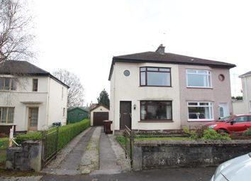 Thumbnail 2 bed semi-detached house for sale in Auchmannoch Avenue, Ralston, Paisley, Renfrewshire