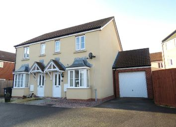 Thumbnail 2 bed semi-detached house for sale in Buckle Path, West Wick, Weston-Super-Mare