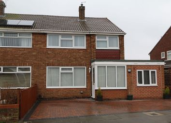 Thumbnail 3 bed semi-detached house for sale in Castleton Road, Hartlepool, Durham