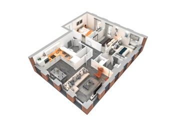 """Thumbnail 3 bed flat for sale in """"The Tennant"""" at Maclean Square, Govan, Glasgow"""