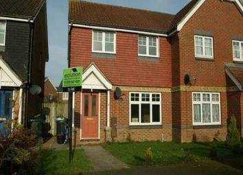 Thumbnail 3 bed semi-detached house to rent in Gordon Close, Ashford