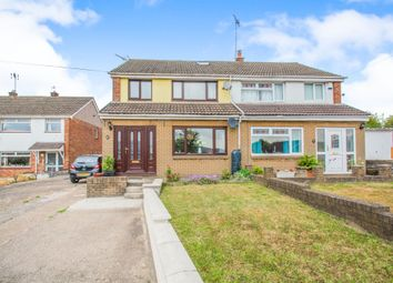Thumbnail 4 bed semi-detached house for sale in Dan Y Graig, Machen, Caerphilly