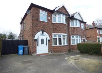 Thumbnail 3 bedroom semi-detached house for sale in Alexandra Road South, Chorlton, Greater Manchester