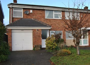 Thumbnail 3 bed semi-detached house to rent in Langley Hall Road, Solihull
