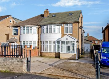 Thumbnail 4 bed semi-detached house for sale in Carr Manor Avenue, Leeds