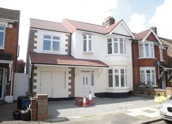 Thumbnail 6 bed town house to rent in Woodstock Gardens, Goodmayes