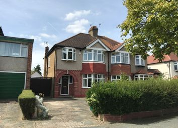 Thumbnail 3 bed semi-detached house for sale in Elmwood Drive, Stoneleigh, Epsom