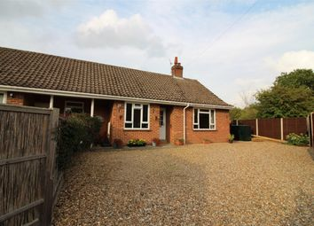 Thumbnail 2 bedroom semi-detached bungalow for sale in Station Close, Swainsthorpe, Norwich