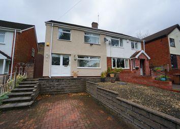 Thumbnail 4 bed semi-detached house for sale in Medart Street, Cross Keys, Newport