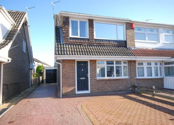 Thumbnail 3 bed semi-detached house for sale in Goodwood, Killingworth, Newcastle Upon Tyne