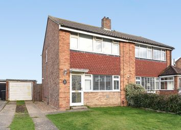 Thumbnail 3 bedroom semi-detached house for sale in Poplar Crescent, West Ewell, Epsom