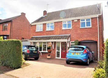 Thumbnail 4 bed detached house for sale in Glenville Avenue, Glenfield, Leicester